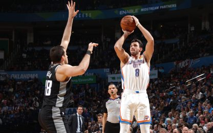 Super Gallo: 24 punti, OKC rimonta e batte i Kings
