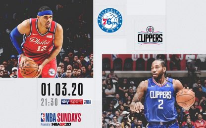 NBA Sundays: L.A. Clippers-Philadelphia su Sky