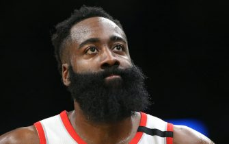 BOSTON, MASSACHUSETTS - FEBRUARY 29: James Harden #13 of the Houston Rockets looks on during the first half of the game against the Boston Celtics at TD Garden on February 29, 2020 in Boston, Massachusetts. (Photo by Maddie Meyer/Getty Images)