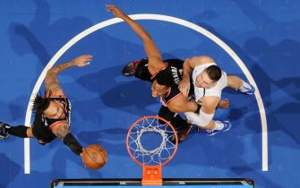 ORLANDO, FL - MARCH 2: Gary Trent Jr. #2 of the Portland Trail Blazers shoots the ball against the Orlando Magic on March 2, 2020 at Amway Center in Orlando, Florida. NOTE TO USER: User expressly acknowledges and agrees that, by downloading and or using this photograph, User is consenting to the terms and conditions of the Getty Images License Agreement. Mandatory Copyright Notice: Copyright 2020 NBAE (Photo by Fernando Medina/NBAE via Getty Images)