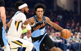 CLEVELAND, OHIO - MARCH 02: Collin Sexton #2 of the Cleveland Cavaliers drives around Bol Bol #10 of the Denver Nuggets during the first half at Rocket Mortgage Fieldhouse on March 02, 2020 in Cleveland, Ohio. NOTE TO USER: User expressly acknowledges and agrees that, by downloading and/or using this photograph, user is consenting to the terms and conditions of the Getty Images License Agreement. (Photo by Jason Miller/Getty Images)