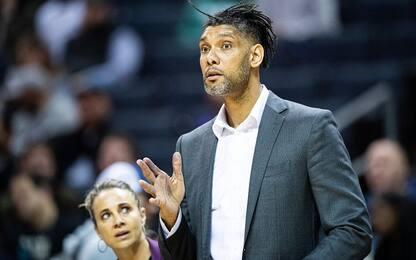 Spurs, prima vittoria da allenatore per Tim Duncan