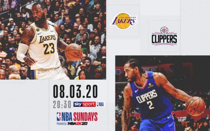 Lakers-Clippers stasera alle 20.30 in streaming