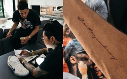 "Booker, tatuaggio dedicato a Kobe: ""Be Legendary"""
