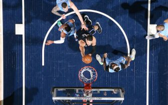 MINNEAPOLIS, MN -  MARCH 6: Nikola Vucevic #9 of the Orlando Magic shoots the ball against the Minnesota Timberwolves on March 6, 2020 at Target Center in Minneapolis, Minnesota. NOTE TO USER: User expressly acknowledges and agrees that, by downloading and or using this Photograph, user is consenting to the terms and conditions of the Getty Images License Agreement. Mandatory Copyright Notice: Copyright 2020 NBAE (Photo by David Sherman/NBAE via Getty Images)