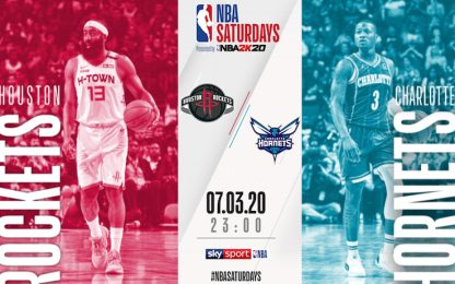 NBA Saturdays, Charlotte-Houston alle 23 su Sky