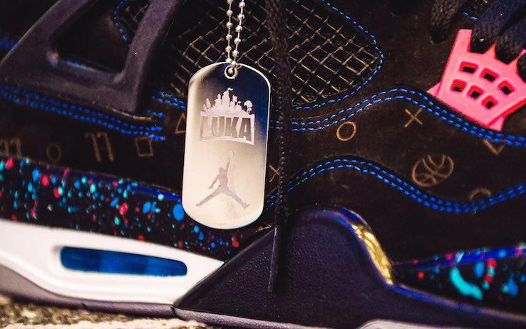 Dettagli delle scarpe di Luka Doncic
