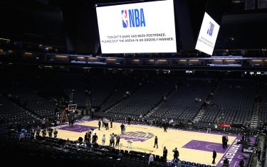 SACRAMENTO, CALIFORNIA - MARCH 11:   The game between the New Orleans Pelicans and the Sacramento Kings was postponed because of the corona virus at Golden 1 Center on March 11, 2020 in Sacramento, California.  NOTE TO USER: User expressly acknowledges and agrees that, by downloading and or using this photograph, User is consenting to the terms and conditions of the Getty Images License Agreement.  (Photo by Ezra Shaw/Getty Images)