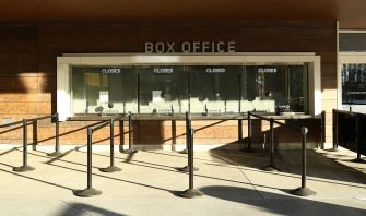 SAN FRANCISCO, CALIFORNIA - MARCH 12:  A view of the closed box office at the Chase Center, where the NBA Golden State Warriors play on March 12, 2020 in San Francisco, California. The Warriors were supposed to host the Brooklyn Nets tonight, but the game was postponed due to the coronavirus.  The NBA, NHL, NCAA and MLB have all announced cancellations or postponements of events because of the COVID-19.  (Photo by Ezra Shaw/Getty Images)
