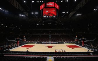 CHICAGO, IL - OCTOBER 21:  A general view before the game between the Chicago Bulls and San Antonio Spurs at the United Center on October 21, 2017 in Chicago, Illinois. NOTE TO USER: User expressly acknowledges and agrees that, by downloading and or using this photograph, User is consenting to the terms and conditions of the Getty Images License Agreement. (Photo by Dylan Buell/Getty Images) *** Local Caption ***