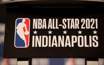 INDIANAPOLIS, IN - DECEMBER 13:  Signage announcing  the 2021 NBA All-Star game in Indianapolis before the game between the Oklahoma City Thunder and Indiana Pacers on December 13, 2017 at Bankers Life Fieldhouse in Indianapolis, Indiana. NOTE TO USER: User expressly acknowledges and agrees that, by downloading and or using this Photograph, user is consenting to the terms and conditions of the Getty Images License Agreement. Mandatory Copyright Notice: Copyright 2017 NBAE (Photo by Jeff Haynes/NBAE via Getty Images)