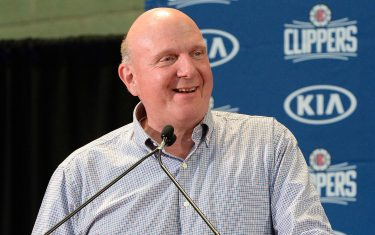 LOS ANGELES, CA - JULY 24: Owner Steve Ballmer of the LA Clippers talks at the LA Clippers Introductory Press Conference at Green Meadows Recreation Center on July 24, 2019 in Los Angeles, California. NOTE TO USER: User expressly acknowledges and agrees that, by downloading and/or using this Photograph, user is consenting to the terms and conditions of the Getty Images License Agreement. Mandatory Copyright Notice: Copyright 2019 NBAE (Photo by Andrew D. Bernstein/NBAE via Getty Images)