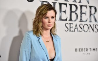 """LOS ANGELES, CALIFORNIA - JANUARY 27: Ireland Baldwin attends the premiere of YouTube Original's """"Justin Bieber: Seasons"""" at Regency Bruin Theatre on January 27, 2020 in Los Angeles, California. (Photo by Alberto E. Rodriguez/Getty Images)"""