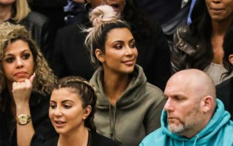 CHATSWORTH, CA - MARCH 09:  Kim Kardashian watches courtside as Sierra Canyon plays Foothills Christian for the CIF Open Division Playoffs at Sierra Canyon High School on March 9, 2018 in Chatsworth, California.  (Photo by Cassy Athena/Getty Images)