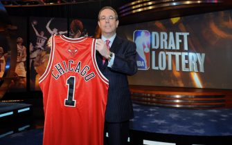 SECAUCUS, NJ - MAY 20:Steve Schanwald, Executive Vice President of Baketball Operations of the Chicago Bulls poses for a photo during the 2008 NBA Draft Lottery at the NBATV Studios on May 20, 2008 in Secaucus, New Jersey.  NOTE TO USER: User expressly acknowledges and agrees that, by downloading and/or using this Photograph, user is consenting to the terms and conditions of the Getty Images License Agreement. Mandatory Copyright Notice: Copyright 2008 NBAE (Photo by Jennifer Pottheiser/NBAE via Getty Images)
