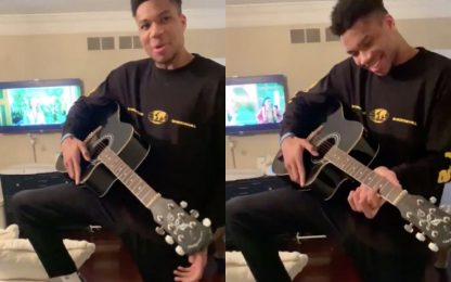 Niente NBA? Giannis si dedica alla musica. VIDEO