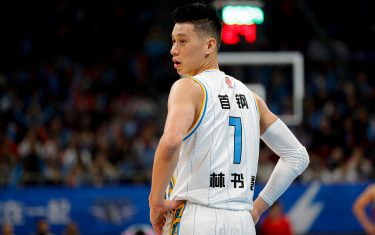 BEIJING, CHINA - NOVEMBER 06: Jeremy Lin #7 of Beijing Ducks in action during 2019/2020 CBA League - Beijing Ducks v Shandong West King at Beijing Wukesong Sport Arena on November 6, 2019 in Beijing, China. (Photo by Fred Lee/Getty Images)