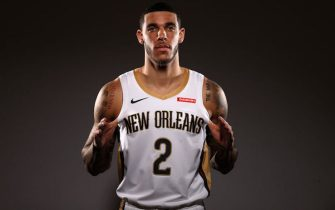 METAIRIE, LOUISIANA - SEPTEMBER 30:  Lonzo Ball #2 of the New Orleans Pelicans poses for a photo during Media Day at the Ochsner Sports Performance Center on September 30, 2019 in Metairie, Louisiana. (Photo by Chris Graythen/Getty Images)