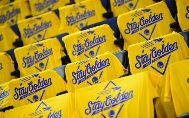 OAKLAND, CA - JUNE 13: A photo of the t-shirts given to fans for Game Six of the NBA Finals on June 13, 2019 at ORACLE Arena in Oakland, California. NOTE TO USER: User expressly acknowledges and agrees that, by downloading and/or using this photograph, user is consenting to the terms and conditions of Getty Images License Agreement. Mandatory Copyright Notice: Copyright 2019 NBAE (Photo by Noah Graham/NBAE via Getty Images)