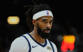 SALT LAKE CITY, UT - OCTOBER 14:  Mike Conley #10 of the Utah Jazz looks on during a preseason game against the Sacramento Kings at Vivint Smart Home Arena on October 14, 2019 in Salt Lake City, Utah. NOTE TO USER: User expressly acknowledges and agrees that, by downloading and or using this photograph, User is consenting to the terms and conditions of the Getty Images License Agreement.  (Photo by Alex Goodlett/Getty Images)