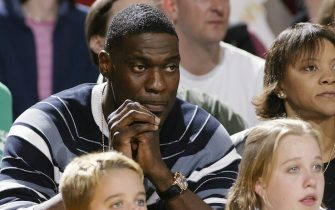 SEATTLE - OCTOBER 5:  Former NBA player Shawn Kemp attends Game Three of WNBA Western Conference Finals between the Seattle Storm and the Sacramento Monarchs at Key Arena on October 5, 2004 in Seattle, Washington.  The Storm won 82-62.  NOTE TO USER: User Expressly acknowledges and agrees that, by downloading and or using this photograph, User is consenting to the terms and conditions of the Getty Images License Agreement.  Mandatory Copyright Notice:  Copyright 2004 NBAE.   (Photo by Jeff Reinking/NBAE via Getty Images) *** Local Caption *** Shawn Kemp
