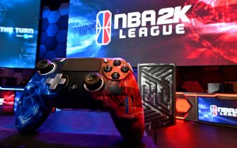 LONG ISLAND CITY, NY - MAY 10: A SCUF Gaming Controller is shown during the mid-season tournament The Turn on May 10, 2019 at the NBA 2K Studio in Long Island City, New York. NOTE TO USER: User expressly acknowledges and agrees that, by downloading and/or using this photograph, user is consenting to the terms and conditions of the Getty Images License Agreement. Mandatory Copyright Notice: Copyright 2019 NBAE (Photo by Jeffrey Bottari/NBAE via Getty Images)