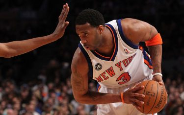 of the New York Knicks of the Oklahoma City Thunder at Madison Square Garden on February 20, 2010 in New York, New York. NOTE TO USER: User expressly acknowledges and agrees that, by downloading and or using this photograph, User is consenting to the terms and conditions of the Getty Images License Agreement.