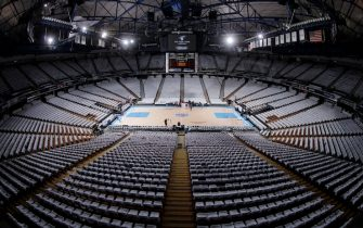 SACRAMENTO, CA - APRIL 9: A general view of the arena prior to the game between the Oklahoma City Thunder and Sacramento Kings on April 9, 2016 at Sleep Train Arena in Sacramento, California. NOTE TO USER: User expressly acknowledges and agrees that, by downloading and or using this photograph, User is consenting to the terms and conditions of the Getty Images Agreement. Mandatory Copyright Notice: Copyright 2016 NBAE (Photo by Rocky Widner/NBAE via Getty Images)