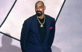 SPRINGFIELD, MA - OCTOBER 2: Wilt Chamberlain attends the Basketball Hall of Fame Enshrinement Ceremony on October 2, 1998 at the Naismith Memorial Basketball Hall of Fame in Springfield, Massachusetts. NOTE TO USER: User expressly acknowledges and agrees that, by downloading and/or using this photograph, user is consenting to the terms and conditions of the Getty Images License Agreement. Mandatory Copyright Notice: Copyright 1998 NBAE (Photo by Nathaniel S. Butler/NBAE via Getty Images)