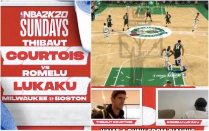 NBA2K: Lukaku vs. Courtois giocano Celtics-Bucks