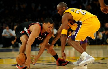 of the Los Angeles Lakers of the Portland Trail Blazers on October 28, 2008 at Staples Center in Los Angeles, California. NOTE TO USER: User expressly acknowledges and agrees that, by downloading and/or using this Photograph, user is consenting to the terms and conditions of the Getty Images License Agreement.
