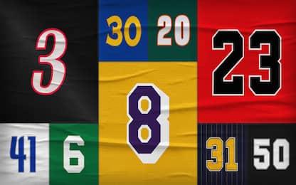 I migliori della storia NBA numero per numero