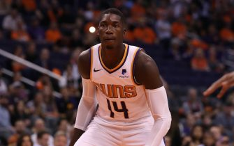 PHOENIX, ARIZONA - OCTOBER 23: Cheick Diallo #14 of the Phoenix Suns during the second half of the NBA game against the Sacramento Kings at Talking Stick Resort Arena on October 23, 2019 in Phoenix, Arizona. The Suns defeated the Kings 124-95. NOTE TO USER: User expressly acknowledges and agrees that, by downloading and/or using this photograph, user is consenting to the terms and conditions of the Getty Images License Agreement (Photo by Christian Petersen/Getty Images)