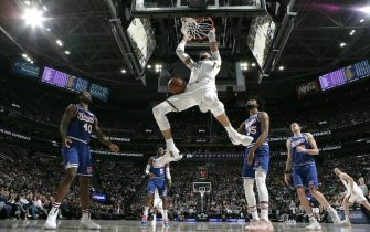 SALT LAKE CITY, UT - JANUARY 18: Rudy Gobert #27 of the Utah Jazz shoots the ball against the Sacramento Kings on January 18, 2020 at vivint.SmartHome Arena in Salt Lake City, Utah. NOTE TO USER: User expressly acknowledges and agrees that, by downloading and or using this Photograph, User is consenting to the terms and conditions of the Getty Images License Agreement. Mandatory Copyright Notice: Copyright 2020 NBAE (Photo by Melissa Majchrzak/NBAE via Getty Images)