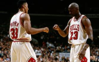 Scottie Pippen e Michael Jordan