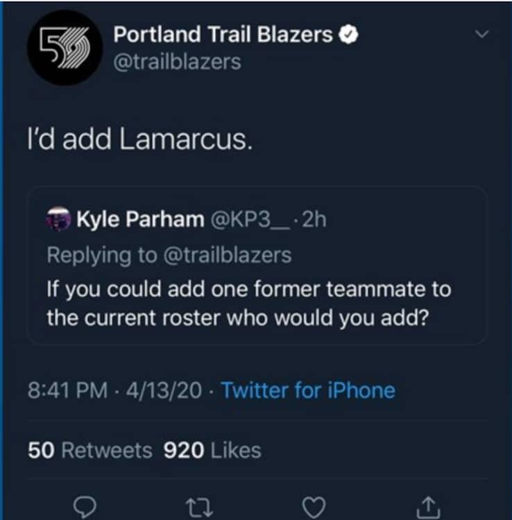 Il tweet incriminato di Damian Lillard