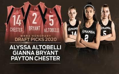 Bryant, Altobelli e Chester onorate al Draft WNBA