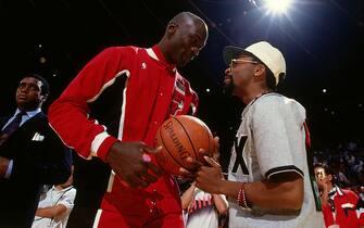 Michael Jordan con Spike Lee