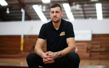 SYDNEY, AUSTRALIA - MARCH 20: Andrew Bogut poses during a Sydney Kings NBL press conference at Auburn Basketball Centre on March 20, 2020 in Sydney, Australia. (Photo by Matt King/Getty Images)