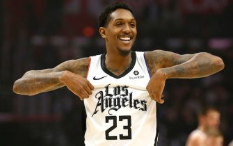 LOS ANGELES, CALIFORNIA - DECEMBER 01:  Lou Williams #23 of the Los Angeles Clippers reacts during the first half against the Washington Wizards at Staples Center on December 01, 2019 in Los Angeles, California. NOTE TO USER: User expressly acknowledges and agrees that, by downloading and or using this photograph, User is consenting to the terms and conditions of the Getty Images License Agreement. (Photo by Katharine Lotze/Getty Images)