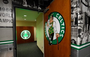 BOSTON, MA - APRIL 17: A general view of the Boston Celtics locker room before Game Two of Round One of the 2019 NBA Playoffs against the Boston Celtics on April 17, 2019 at the TD Garden in Boston, Massachusetts.  NOTE TO USER: User expressly acknowledges and agrees that, by downloading and or using this photograph, User is consenting to the terms and conditions of the Getty Images License Agreement. Mandatory Copyright Notice: Copyright 2019 NBAE  (Photo by Brian Babineau/NBAE via Getty Images)