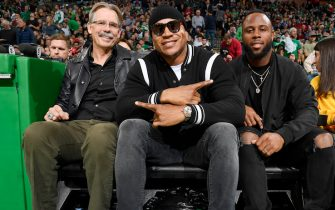 BOSTON, MA - DECEMBER 21: Rapper LL Cool J seen courtside of the game between the Milwaukee Bucks and the Boston Celtics on December 21, 2018 at the TD Garden in Boston, Massachusetts.  NOTE TO USER: User expressly acknowledges and agrees that, by downloading and or using this photograph, User is consenting to the terms and conditions of the Getty Images License Agreement. Mandatory Copyright Notice: Copyright 2018 NBAE  (Photo by Brian Babineau/NBAE via Getty Images)