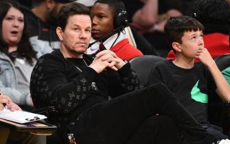 LOS ANGELES, CALIFORNIA - FEBRUARY 23: Mark Wahlberg attends a basketball game between the Los Angeles Lakers and the Boston Celtics at Staples Center on February 23, 2020 in Los Angeles, California. (Photo by Allen Berezovsky/Getty Images)