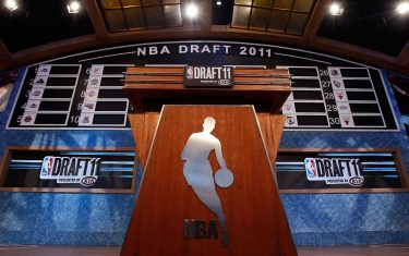 during the 2011 NBA Draft at the Prudential Center on June 23, 2011 in Newark, New Jersey.  NOTE TO USER: User expressly acknowledges and agrees that, by downloading and/or using this Photograph, user is consenting to the terms and conditions of the Getty Images License Agreement.