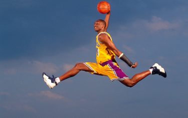 AUGUST 1997:  Kobe Bryant #8 of the Los Angeles Lakers during an August 1997 photo shoot in Florida.  NOTE TO USER: User expressly acknowledges and agrees that, by downloading and/or using this Photograph, User is consenting to the terms and conditions of the Getty Images License Agreement.  (Photo by Walter Iooss Jr./NBAE via Getty Images)