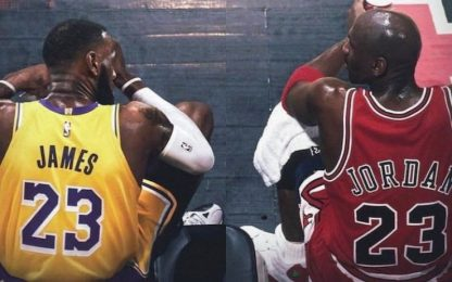 """James """"si lamenta"""", ma ha più voti da MVP di MJ"""