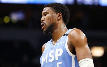 MINNEAPOLIS, MN - MARCH 6: Malik Beasley #5 of the Minnesota Timberwolves looks on in the third quarter during the game against the Orlando Magic at Target Center on March 6, 2020 in Minneapolis, Minnesota. The Magic defeated the Timberwolves 132-118. NOTE TO USER: User expressly acknowledges and agrees that, by downloading and or using this Photograph, user is consenting to the terms and conditions of the Getty Images License Agreement. (Photo by David Berding/Getty Images)