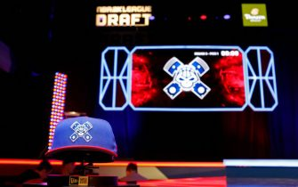 NEW YORK, NY - FEBRUARY 22: Pistons GT hat during the NBA 2K League Draft on February 22, 2020 at Terminal 5 in New York, New York. NOTE TO USER: User expressly acknowledges and agrees that, by downloading and/or using this Photograph, user is consenting to the terms and conditions of the Getty Images License Agreement. Mandatory Copyright Notice: Copyright 2020 NBAE (Photo by Michelle Farsi/NBAE via Getty Images)
