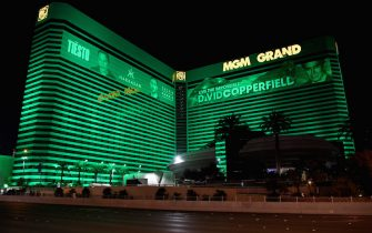 LAS VEGAS, NEVADA - APRIL 02:  MGM Grand Hotel & Casino on the Las Vegas Strip remains closed as a result of the statewide shutdown due to the continuing spread of the coronavirus across the United States on April 2, 2020 in Las Vegas, Nevada. Nevada Gov. Steve Sisolak ordered a mandatory shutdown of most nonessential businesses in the state through April 30th to help combat the spread of the virus. The World Health Organization declared the coronavirus (COVID-19) a global pandemic on March 11th.  (Photo by Ethan Miller/Getty Images)