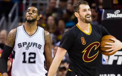 Aldridge per Love, scambio di lunghi Spurs-Cavs?